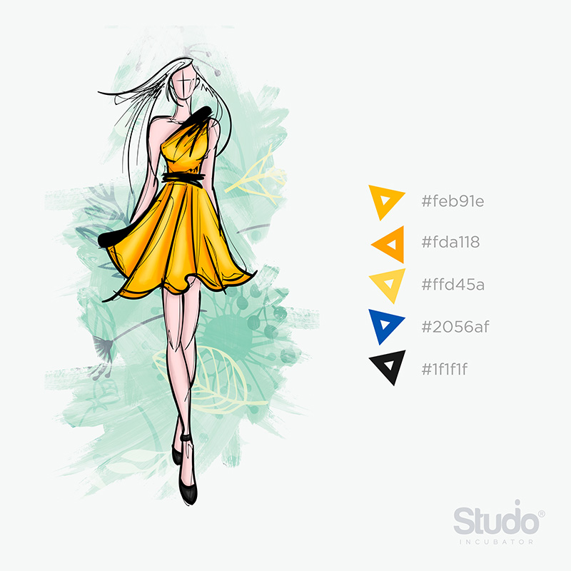 Studio Incubator - Short A line Dress Croquis Portfolio
