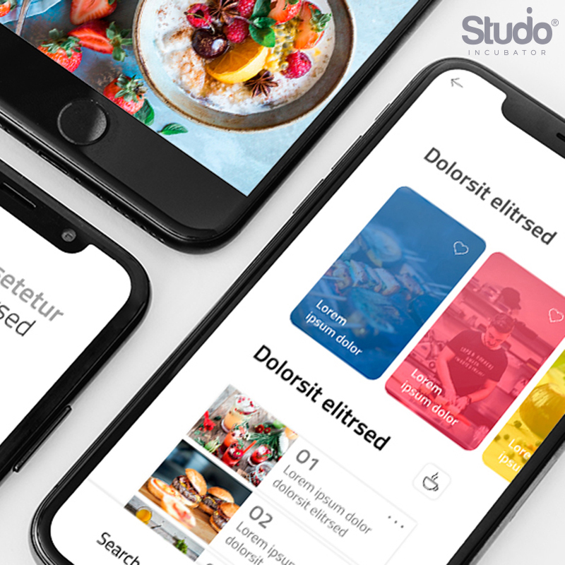 Studio Incubator – Mobile app sample under UI UX's gallery
