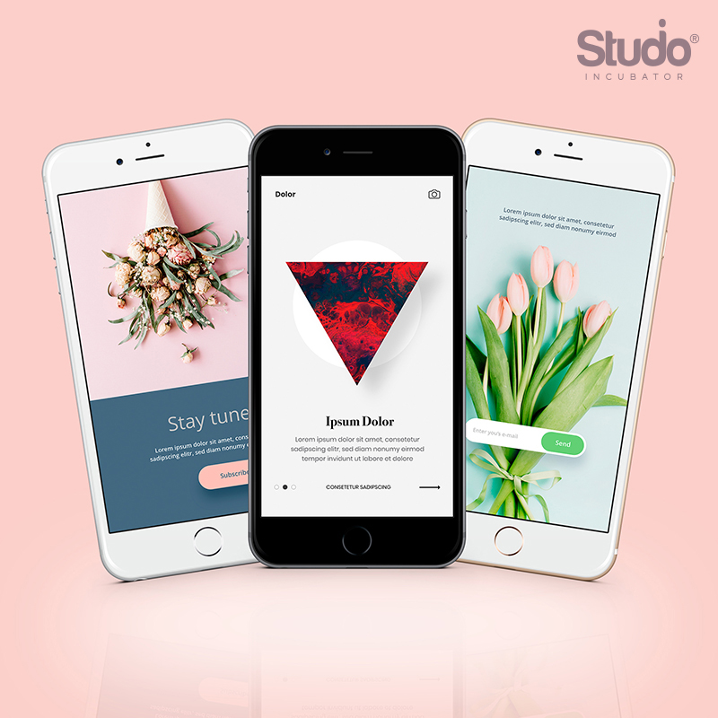 Studio Incubator – User Interface sample under UI UX's gallery
